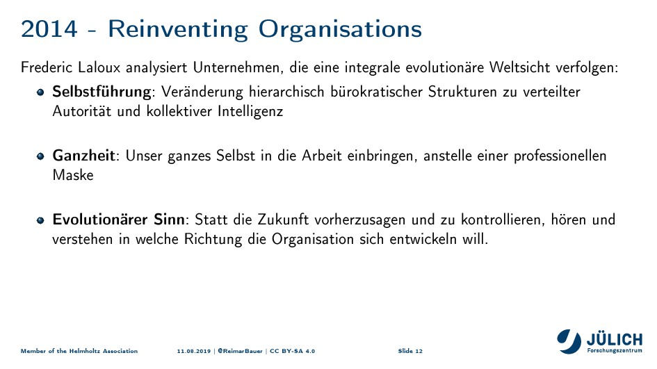 2014 - Reinventing Organisations Frederic Lalou...