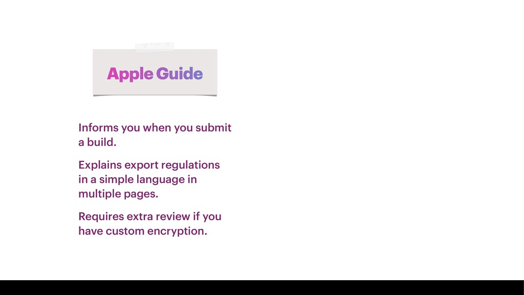 Apple Guide Informs you when you submit a build...
