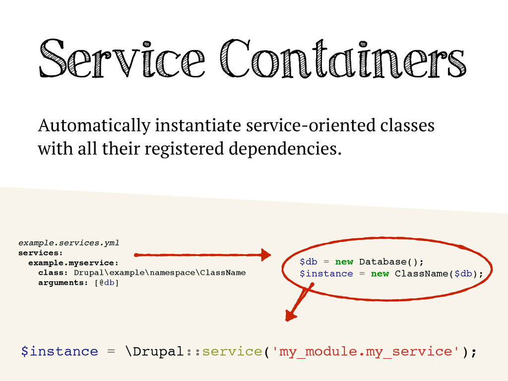 Service Containers Automatically instantiate se...