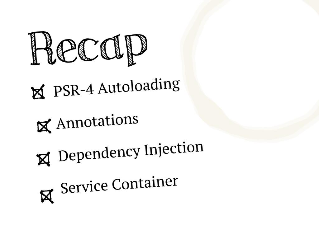 Recap PSR-4 Autoloading Annotations Dependency ...