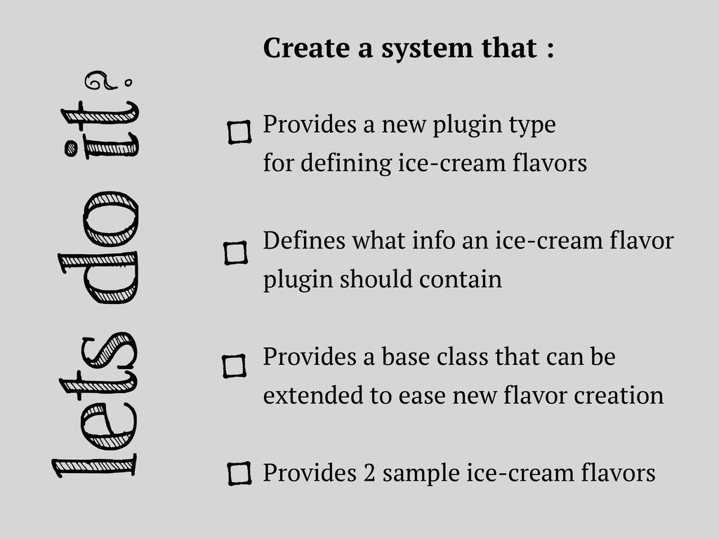 lets do it? Create a system that : Provides a n...