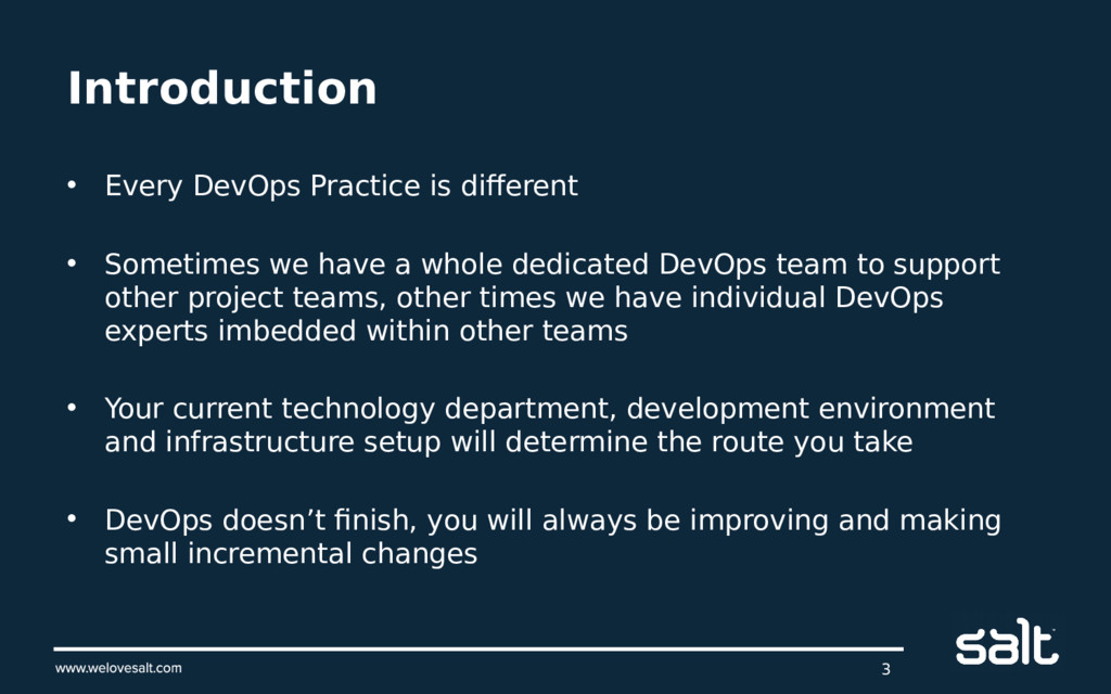 Introduction • Every DevOps Practice is differe...