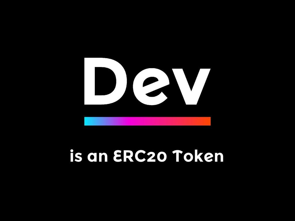 is an ERC20 Token