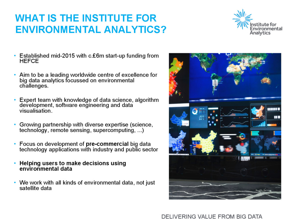 DELIVERING VALUE FROM BIG DATA WHAT IS THE INST...