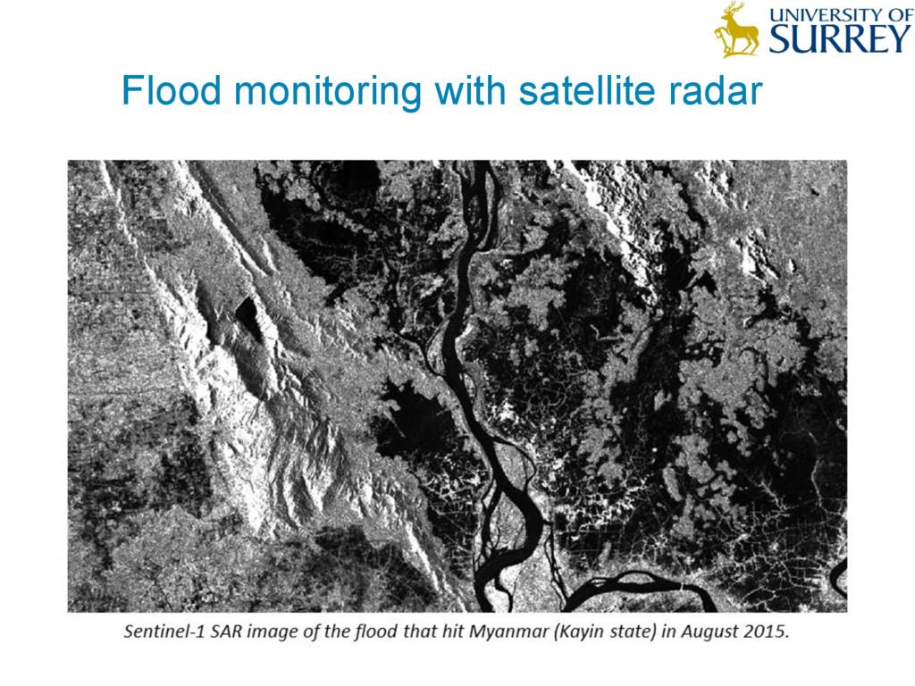 DELIVERING VALUE FROM BIG DATA Flood monitoring...