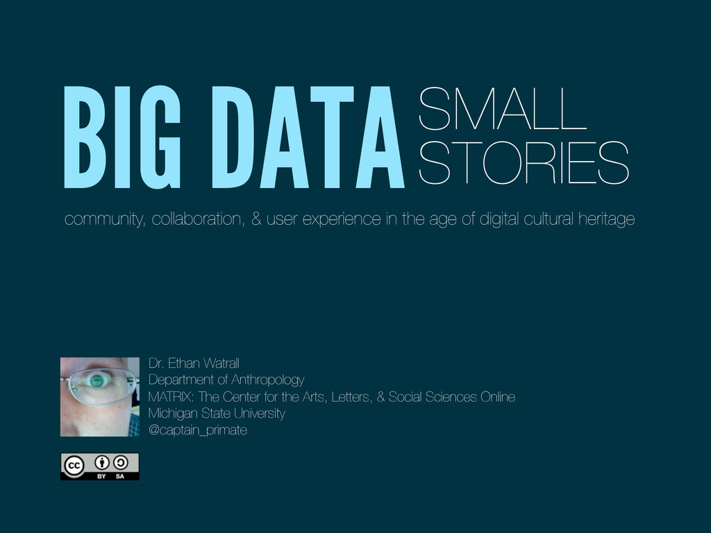 BIG DATASMALL STORIES community, collaboration,...