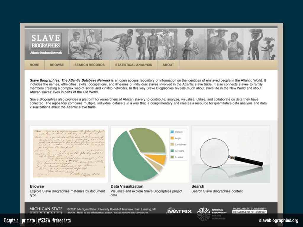 slavebiographies.org @captain_primate   #SXSW #...