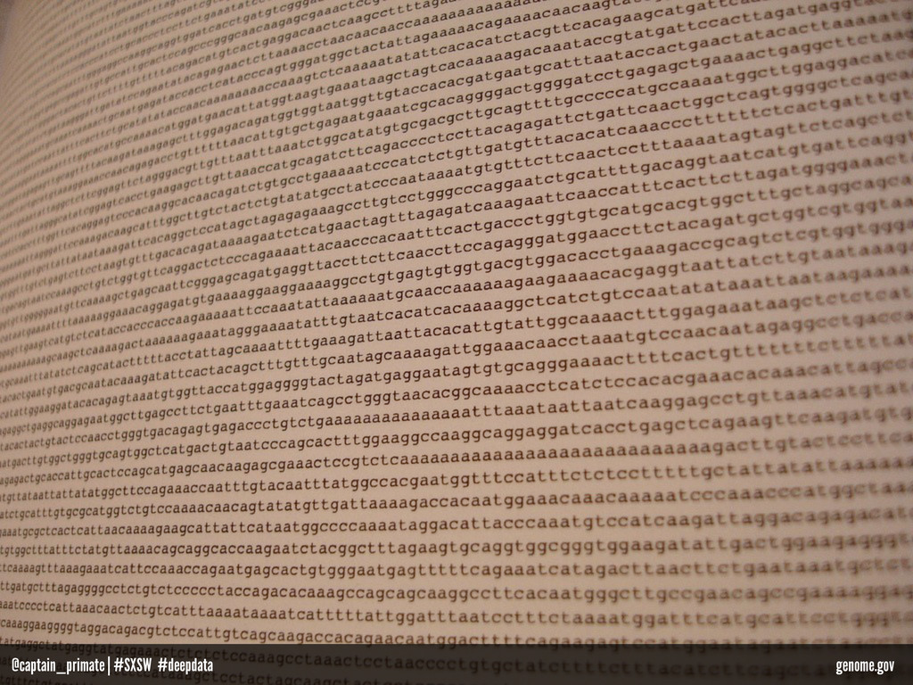 genome.gov @captain_primate   #SXSW #deepdata