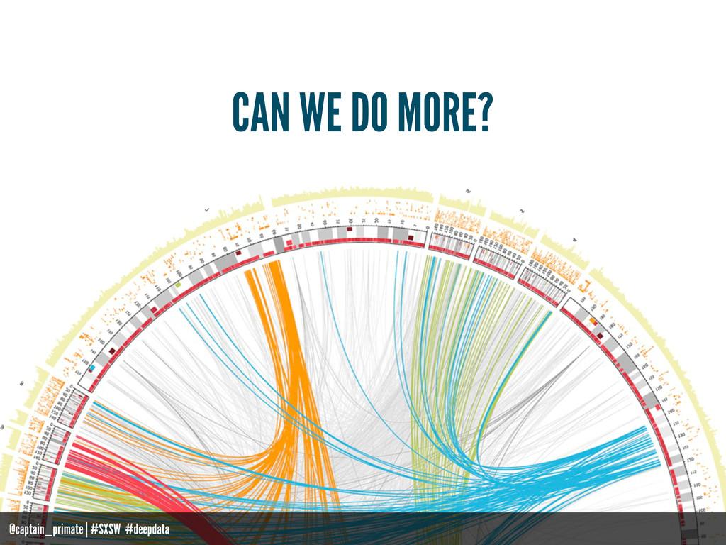 CAN WE DO MORE? @captain_primate   #SXSW #deepd...