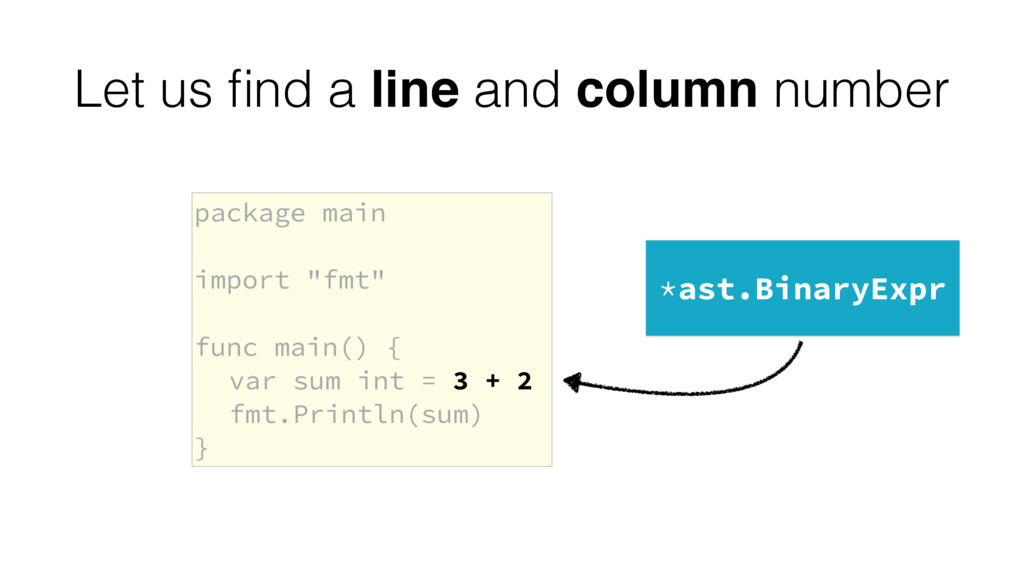 "package main import ""fmt"" func main() { var sum..."