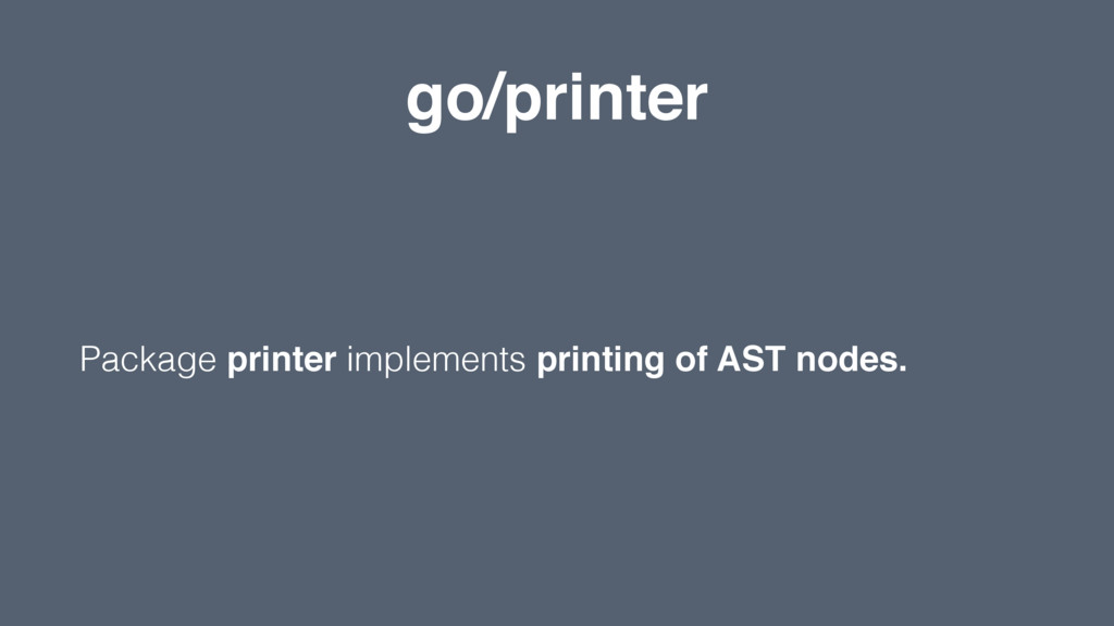 go/printer Package printer implements printing ...