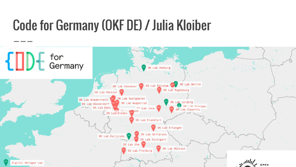 Code for Germany (OKF DE) / Julia Kloiber