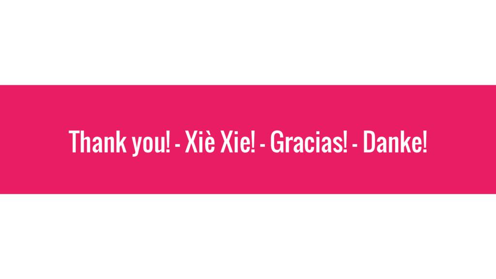 Thank you! - Xiè Xie! - Gracias! - Danke!