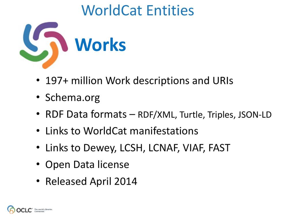 WorldCat Entities Works • 197+ million ...