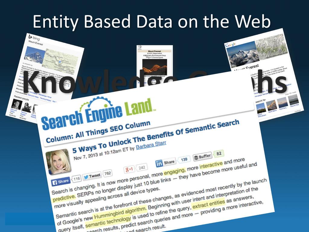 Entity Based Data on the Web ...