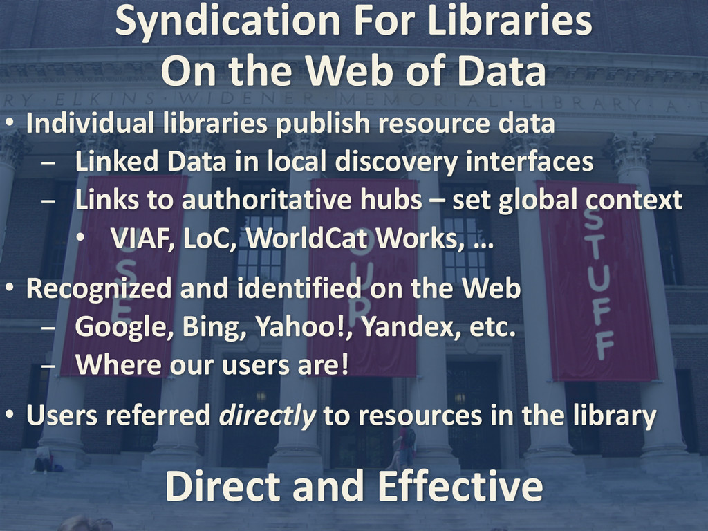 Syndication For Libraries • Individual ...