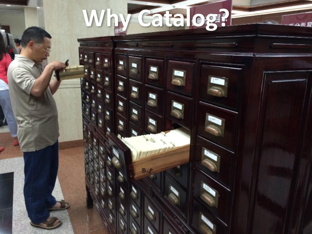 Why Catalog?