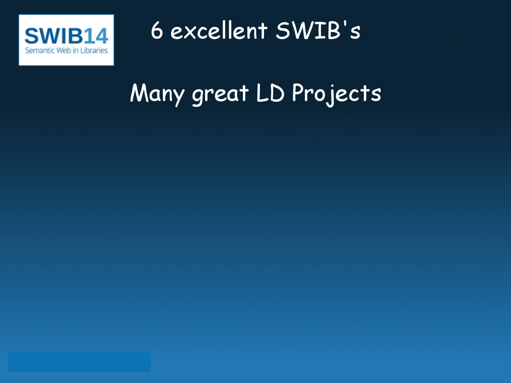 6 excellent SWIB's ! Many great LD Projects