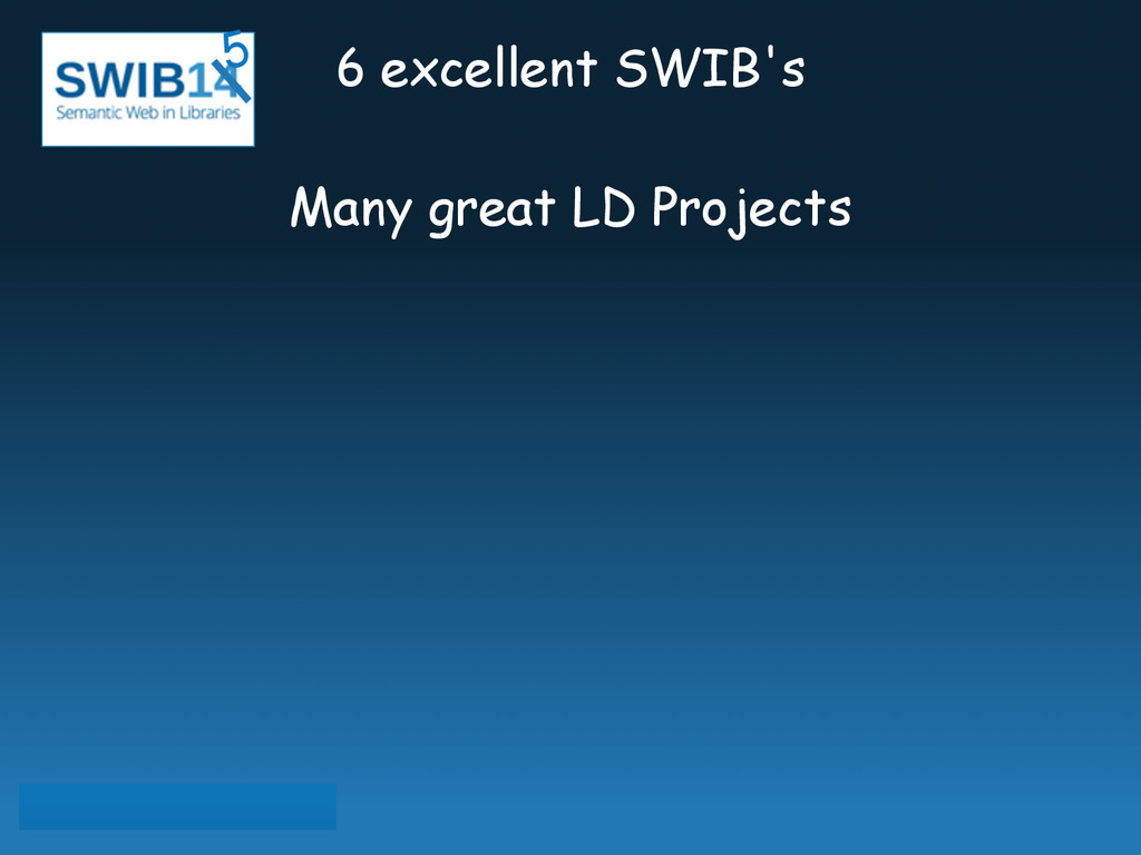 6 excellent SWIB's ! Many great LD Projects 5
