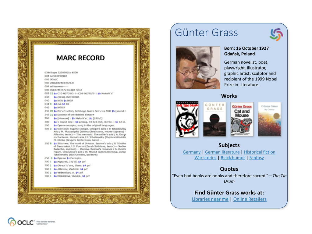 Günter Grass Born: 16 October 1927 G...
