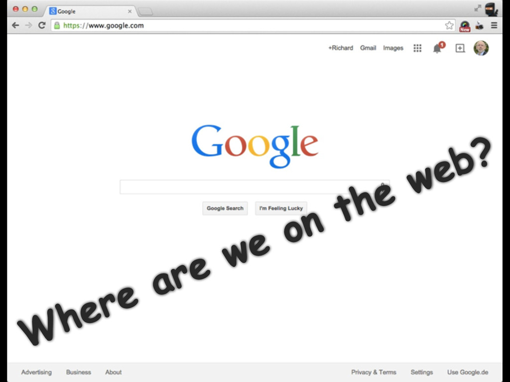 Where are we on the web?