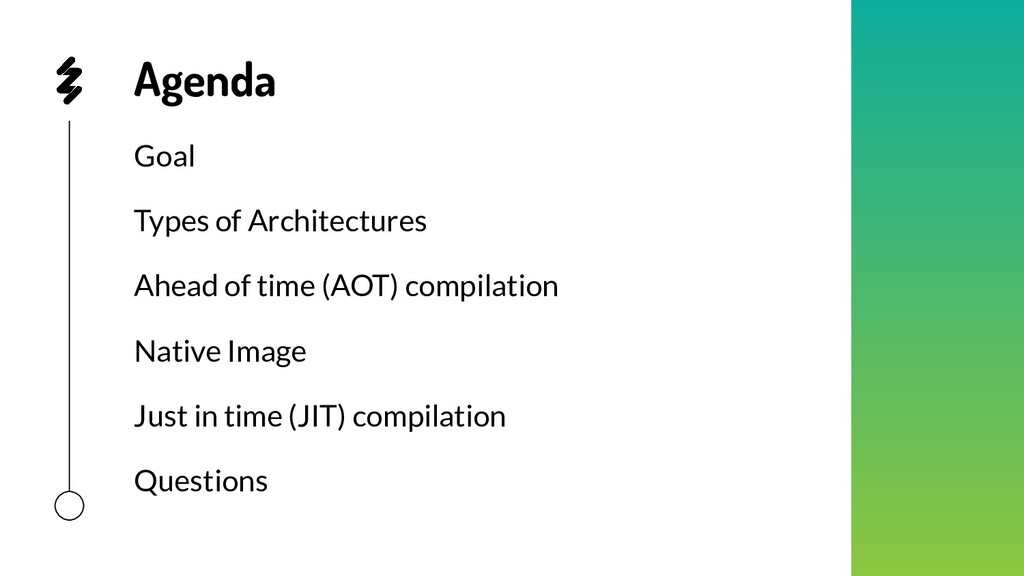Agenda Goal Types of Architectures Ahead of tim...