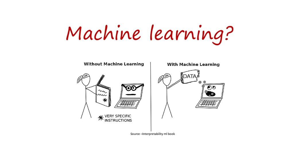 Machine learning? Source –Interpretability ml b...