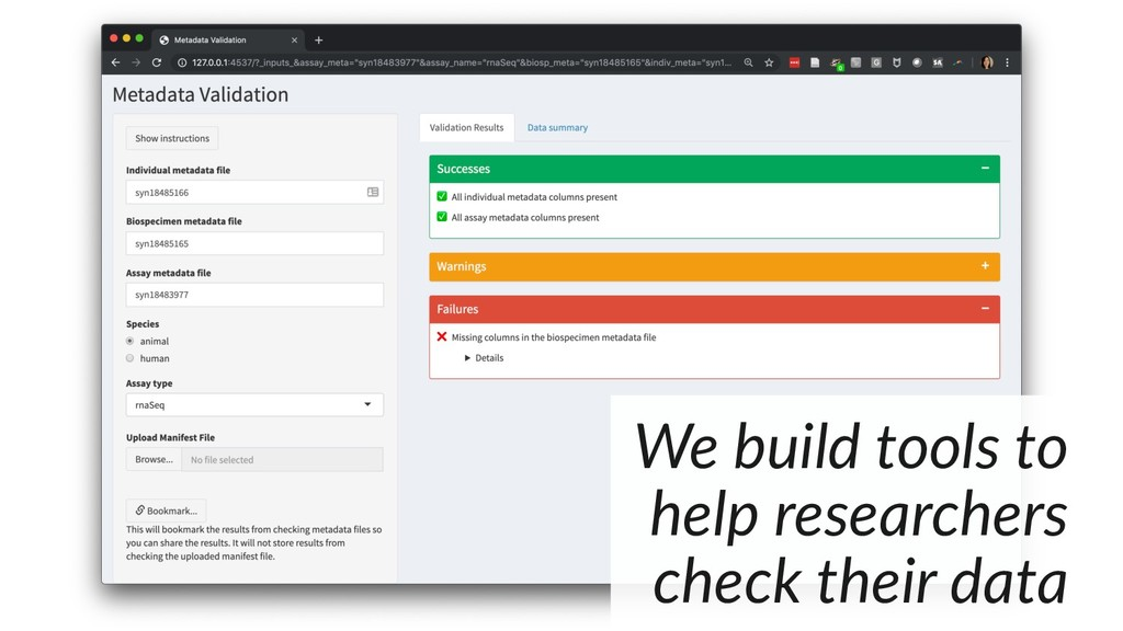 We build tools to help researchers check their ...