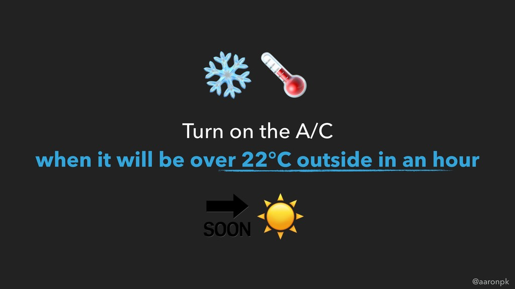 @aaronpk Turn on the A/C  when it will be over...