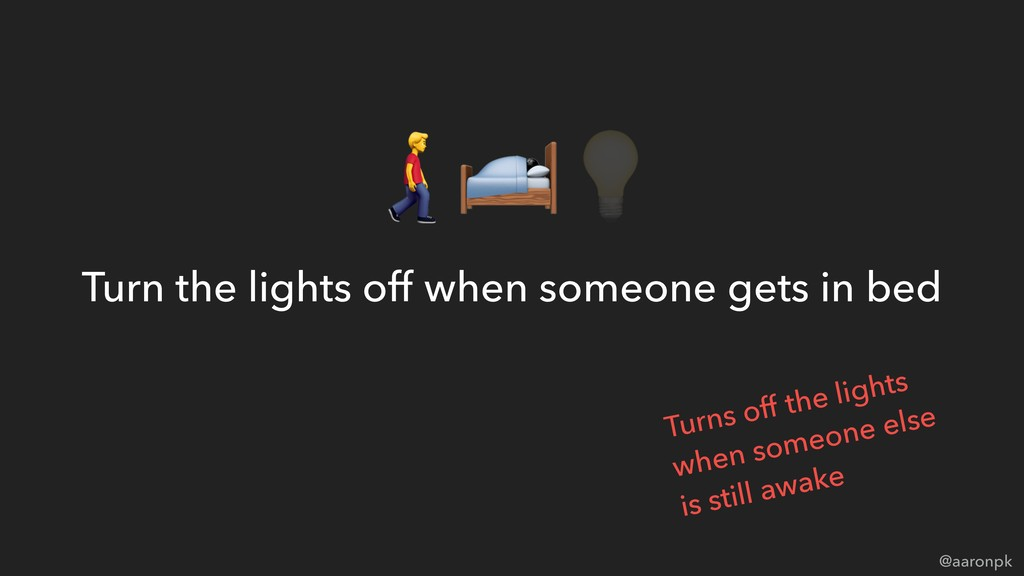 @aaronpk Turn the lights off when someone gets ...