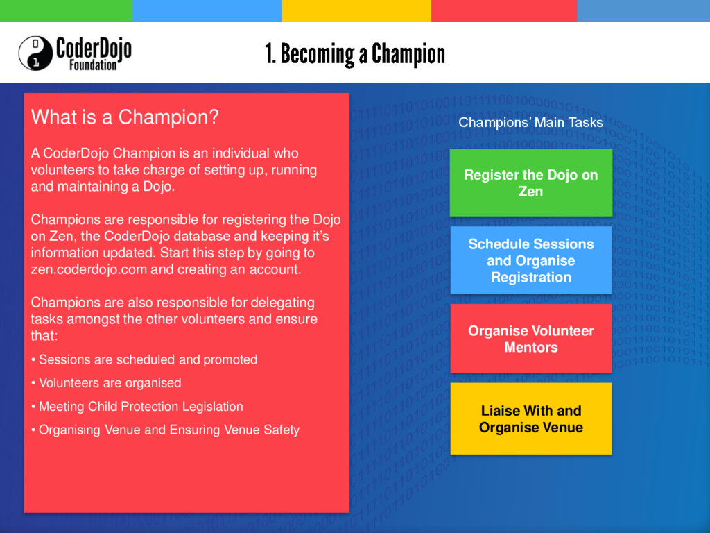 What is a Champion? A CoderDojo Champion is an ...