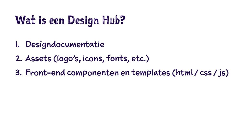 Wat is een Design Hub? 1. Designdocumentatie 2....
