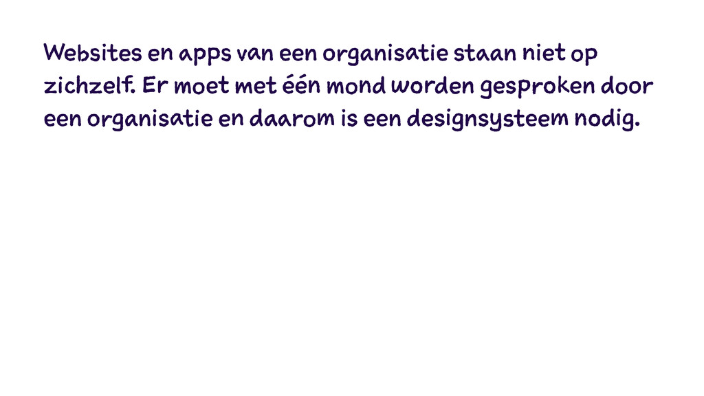 Websites en apps van een organisatie staan niet...