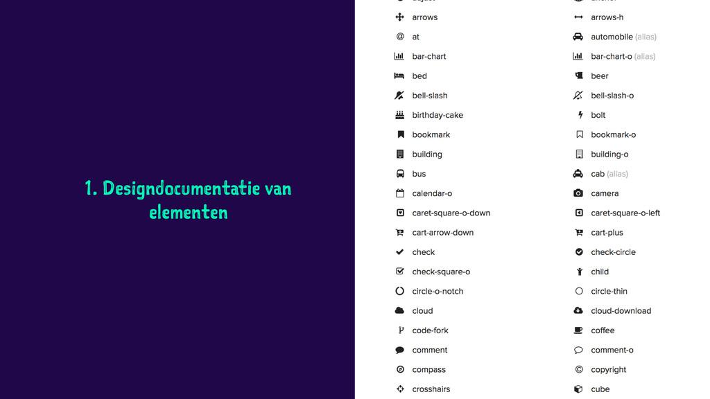 1. Designdocumentatie van elementen