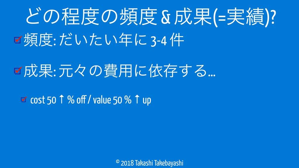 © 2018 Takashi Takebayashi ස: ͍͍ͩͨʹ 3-4 ݅ Ռ:...