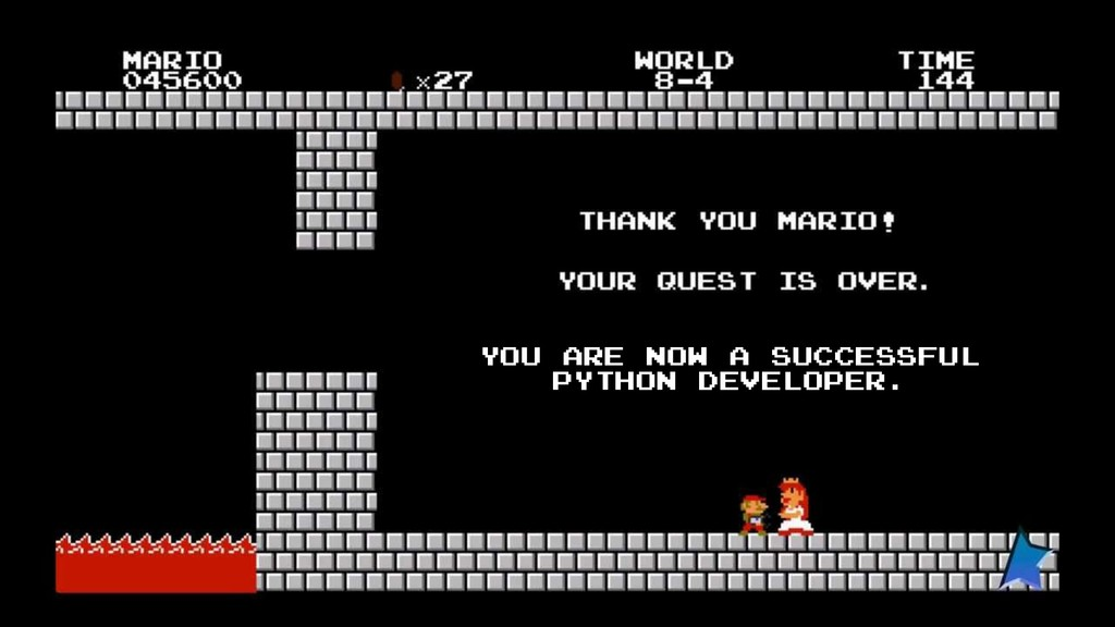 YOU ARE NOW A SUCCESSFUL PYTHON DEVELOPER.