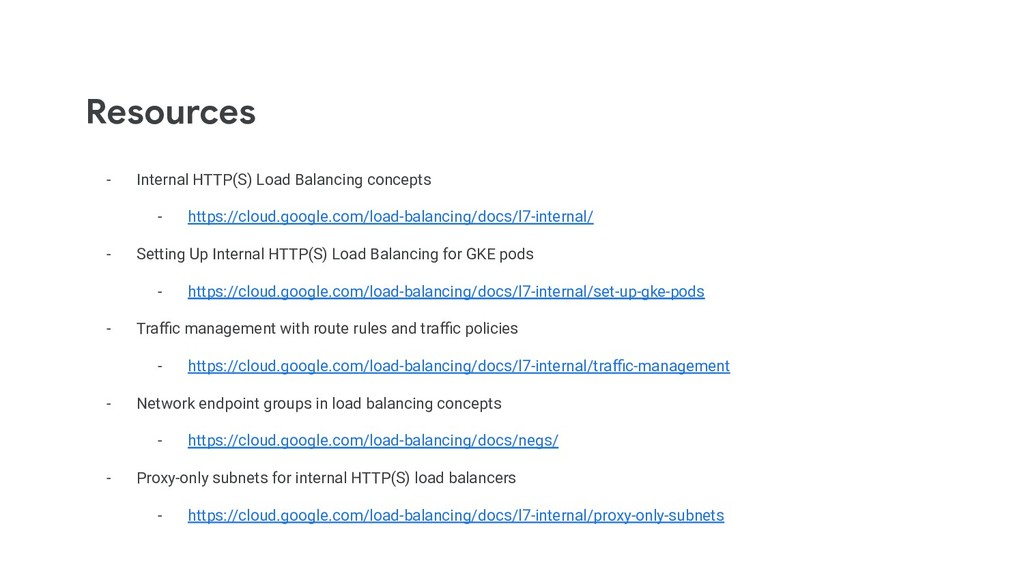 Resources - Internal HTTP(S) Load Balancing con...