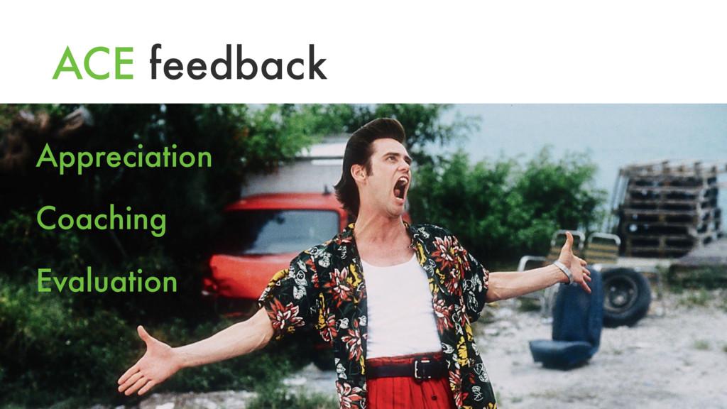 ACE feedback Appreciation Coaching Evaluation