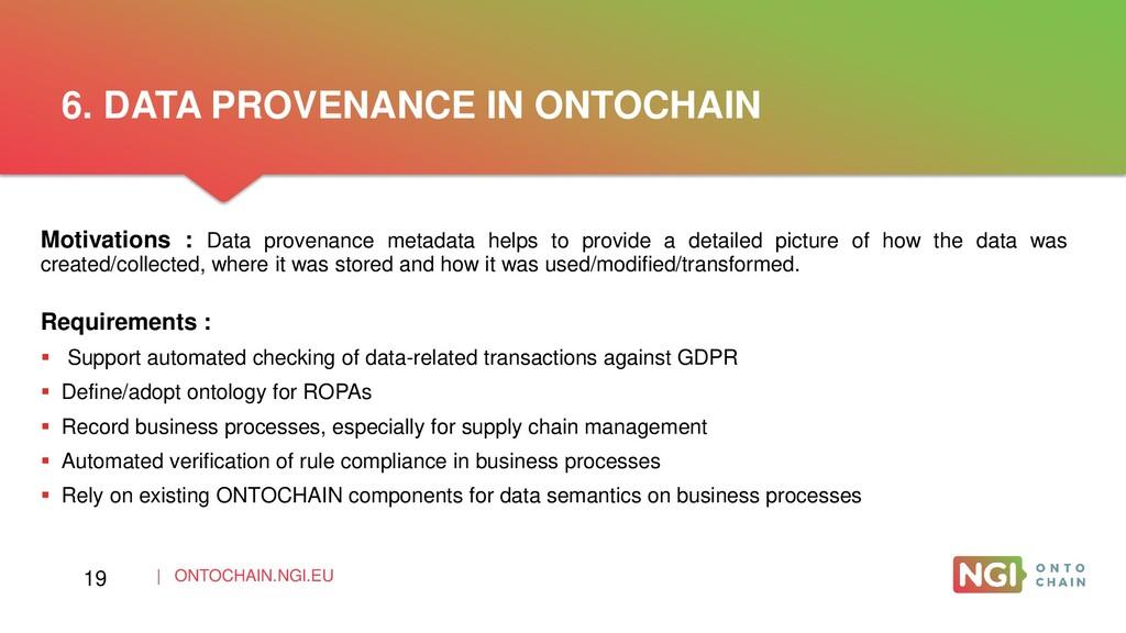 | ONTOCHAIN.NGI.EU Motivations : Data provenanc...