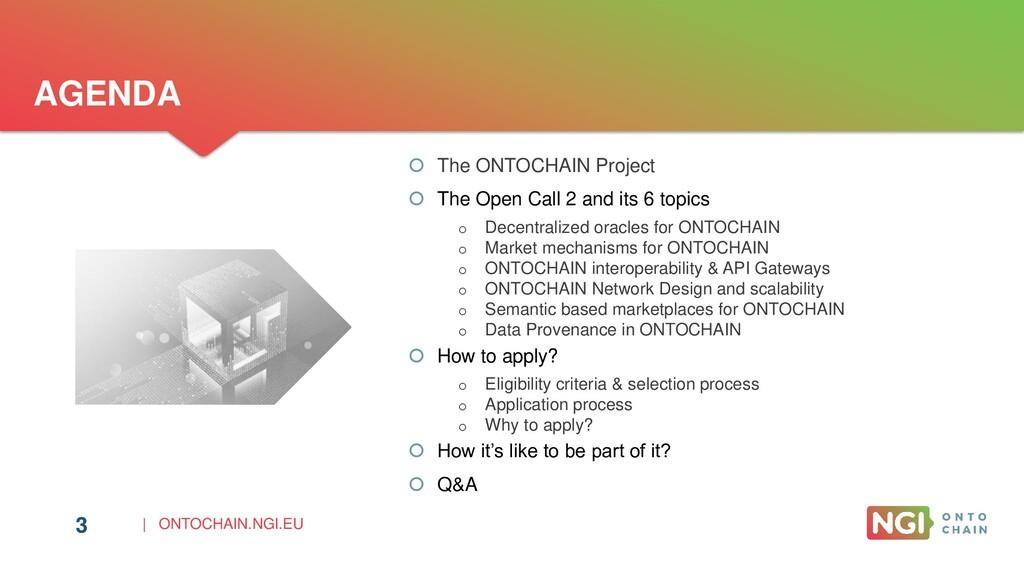 | ONTOCHAIN.NGI.EU 3 AGENDA  The ONTOCHAIN Pro...