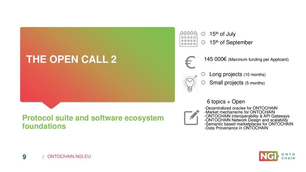 | ONTOCHAIN.NGI.EU 9 THE OPEN CALL 2 Protocol s...