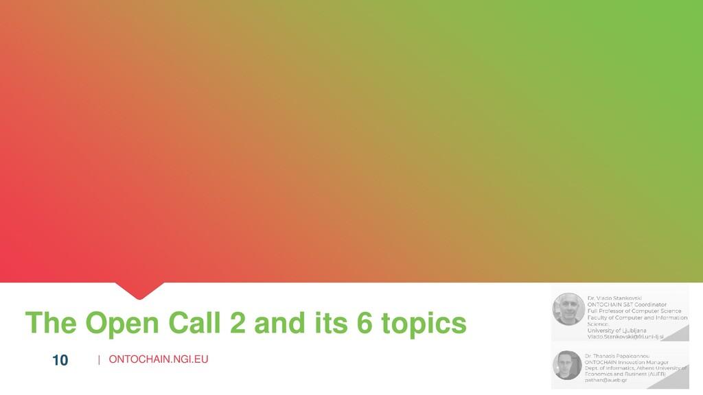 | ONTOCHAIN.NGI.EU 10 The Open Call 2 and its 6...