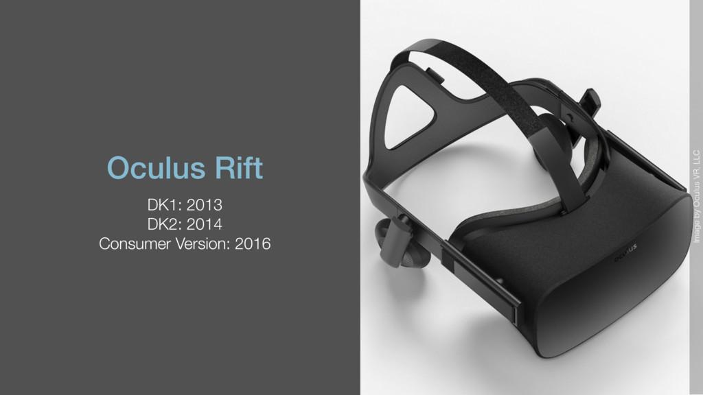 Oculus Rift DK1: 2013 DK2: 2014 Consumer Versio...