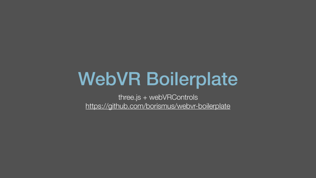 WebVR Boilerplate three.js + webVRControls http...