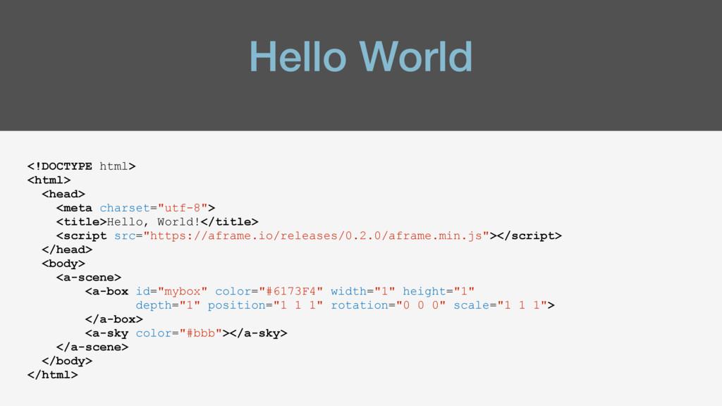Hello World <!DOCTYPE html> <html> <head> <meta...