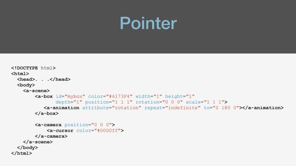 Pointer <!DOCTYPE html> <html> <head>. . .</hea...