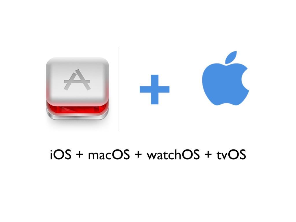 iOS + macOS + watchOS + tvOS