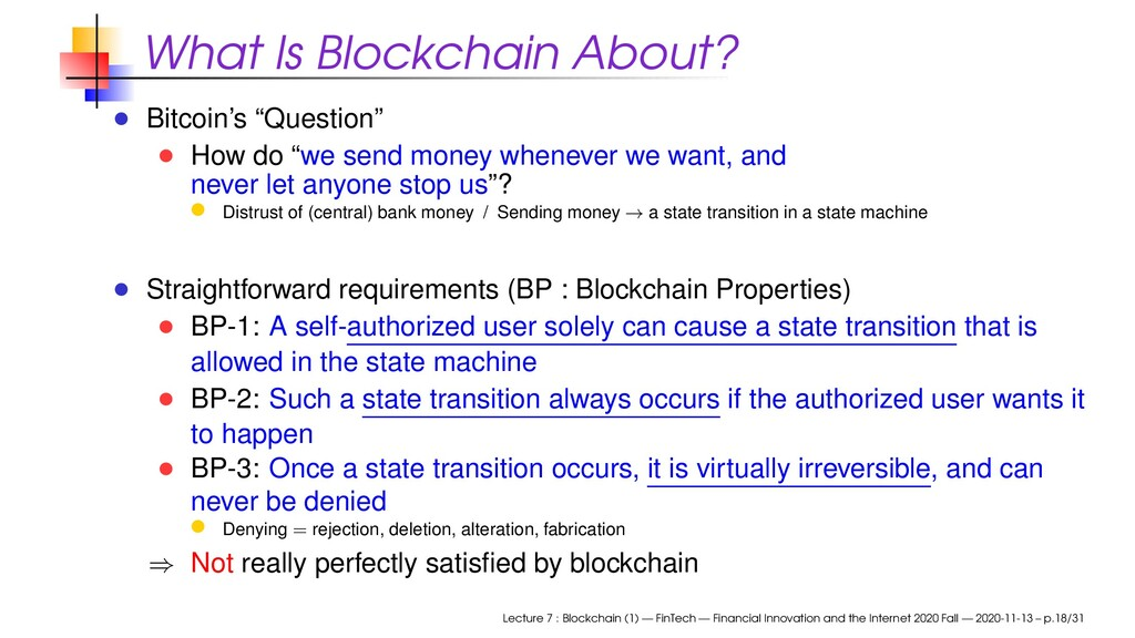 "What Is Blockchain About? Bitcoin's ""Question"" ..."