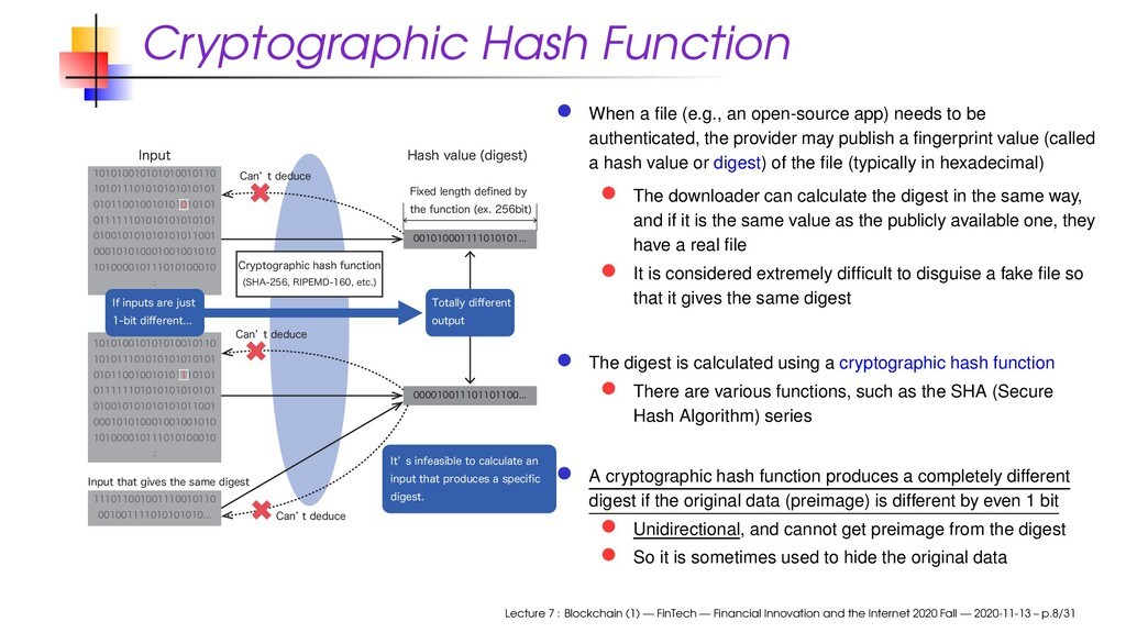 Cryptographic Hash Function ...