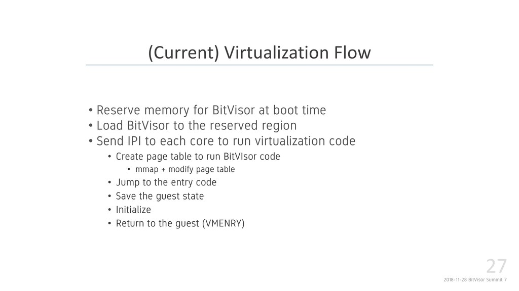 2018-11-28 BitVisor Summit 7 27 • Reserve memor...